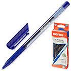 Ручка шариковая неавтоматическая Kores K2 синяя (толщина линии 0.5 мм)